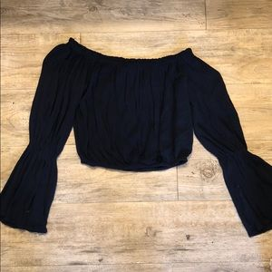 super cute off the shoulder crop top